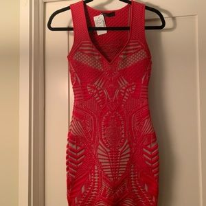 RVN New with Tags Red Bodycon dress